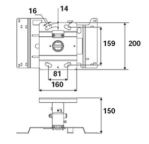 Не универсальное потолочное крепление Epson Elpmb22